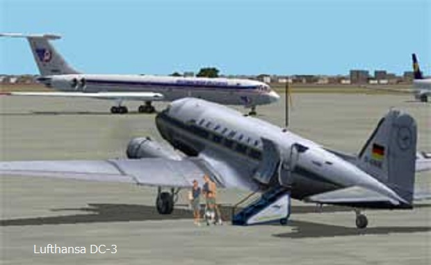 ドイツ・SCHABAK社製 Nr.911 1/600 ルフトハンザ航空1950年〜1960年代主要4機セットパッケージ 【現地ドイツ空港限定品】1986年製                                     [Item No.PU6DEC-16]