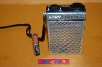 ソニー Model TR-3460 AM 小型(タバコの箱よりも小さい)トランジスターラジオ 1978年型