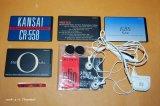 ソニー ワンーステーション(特定のラジオ局専用)カード式ラジオ受信機 Model CLIP-HD2 ステレオイヤーレシーバー1988年・グッドデザイン賞 & CLIP-A38、A44、A45、F22ラジオチューナーカード付