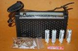シャープ Model No.BX-373 2バンド(SW/MW)7石トランジスタラジオ受信機・1961年製品・革製ケース付き