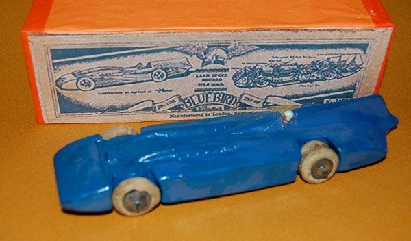 画像1: 英国・BRITAIN(ブリテン)No.1400 Bluebird Record Car gas turbine-powered vehicle  【1936年発売品・当時もの】